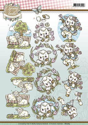 3D Knipvel - Yvonne Creations - Spring-tastic - Sheep