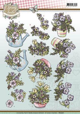 3D Knipvel - Yvonne Creations - Spring-tastic - Spring flowers