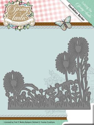 Die - Yvonne Creations - Spring-tastic -Dandelion Border