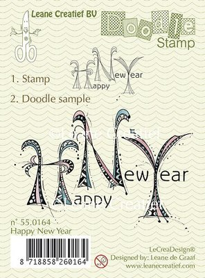 Doodle clear stamp Happy New Year
