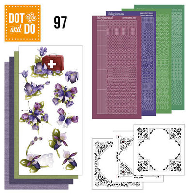 Dot & do  97 Purple flower