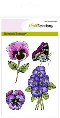 CraftEmotions clearstamps A6 - violen 2 Sweet Violets