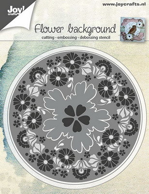 Joy! stencil bloemen achtergrond