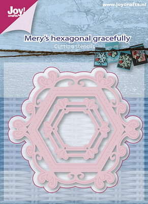 Joy! stencil Mery's zeshoekig sierlijk 6002/0658