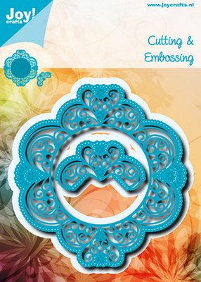 Joy! stencil blauwe ornamentmal met snijwerk 6002/0699