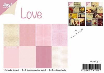 Joy! papierset + 4 knipvellen liefde 6011/0511