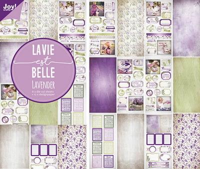 Joy! papier/stansblok 15x30 cm Lavendel 6011/0383