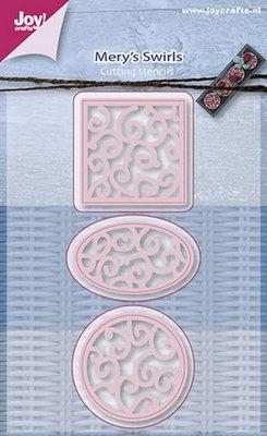 Joy! stencil Mery's rond-ovaal-vierkant sier 6002/0657