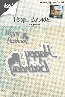 Joy! stencil happy birthday tekst 6002/0667