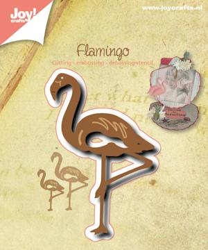 Joy craft - silhouette stencil flamingo