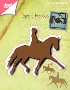 Joy craft - silhouette stencil paard (dressuur)