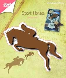 Joy craft - silhouette stencil ruiter te paard