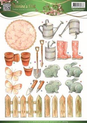 Jeanines Art - Garden Classics - 3D Knipvel - Garden Tools 2