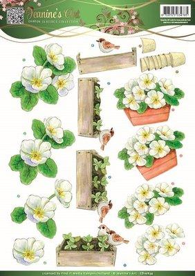 Jeanines Art - Garden Classics - 3D Knipvel - White Flowers