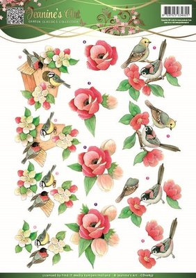 Jeanines Art - Garden Classics - 3D Knipvel - Birds