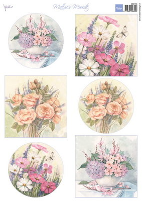 Marianne design, knipvel Mattie's wild flowers MB0164