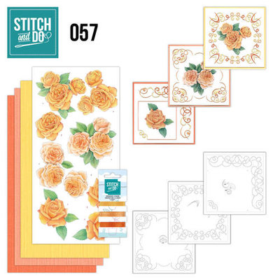 Stitch & do - 57 oranje rozen