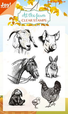 Joy! stempel boerderij dieren 6410/0445