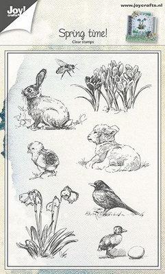 Joy! stempel voorjaarsdieren en bloemen 6410/0441