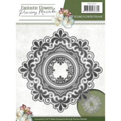 Die - Precious Marieke - Fantastic Flowers - Round flowers frame