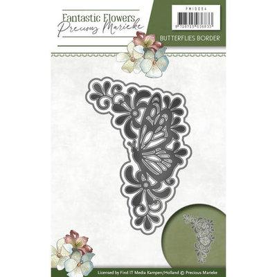 Die - Precious Marieke - Fantastic Flowers -  Butterflies border