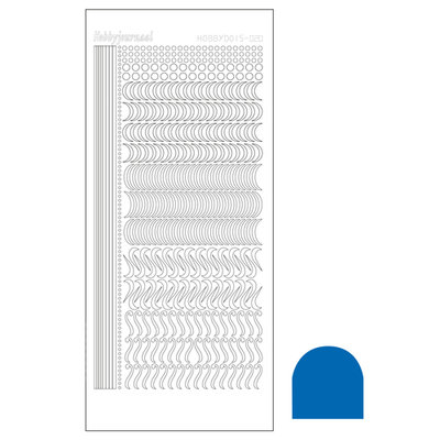Hobbydots sticker - Mirror - Blue STDM20A
