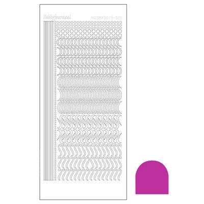 Hobbydots sticker - Mirror - Pink STDM20F