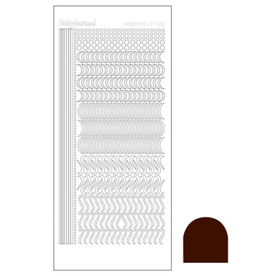 Hobbydots sticker - Mirror - Brown STDM20G
