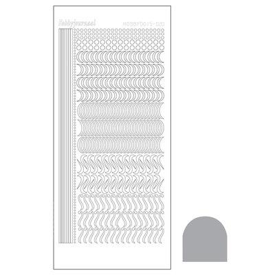 Hobbydots sticker - Mirror - Silver STDM208