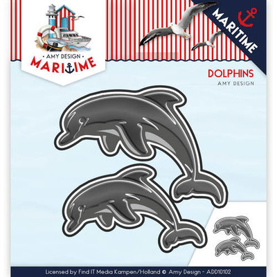 Die - Amy Design - Maritime - Dolphins  ADD10102