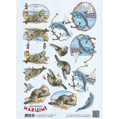 3D Knipvel -  Maritime - Zeedieren