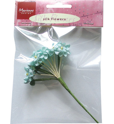Silk Flowers - Blue -Marianne design