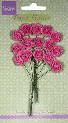 Paper Flowers- Rose - bright pink - Marianne-design RB2246