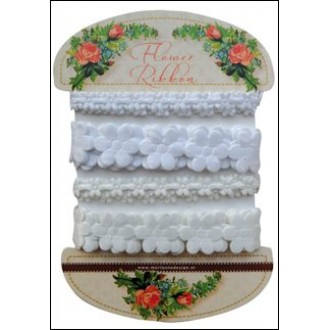 Flower ribbon white-off white - Marianne Design - JU0925