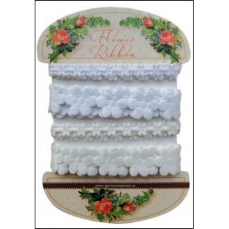 Flower ribbon white-off white - Marianne Design - JU0925