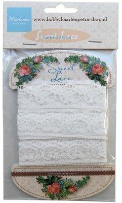 Ribbon - Sweet lace  - crown - Marianne Design - JU0936