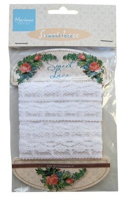 Ribbon - Sweet lace  - flower - Marianne Design - JU0935