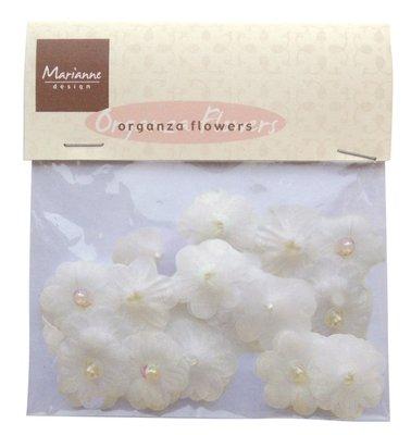Organza flowers - off white - Marianne Design - JU0907