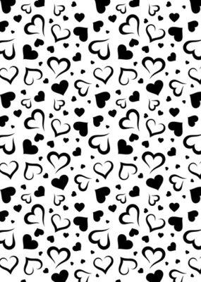 Mixed media plastic - stencil  - A5 size hearts