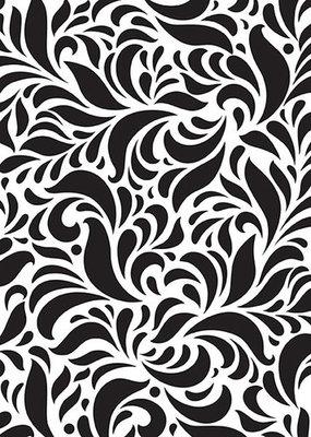 Mixed media plastic - stencil  - A5 size Swirls