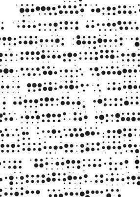 Mixed media plastic - stencil  - A5 size pattern-2