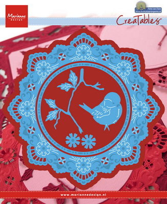 Creatables stencil -  Petra's circle with bird