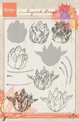 Marianne design, Clear Stamp - Tiny's tulip (layering)