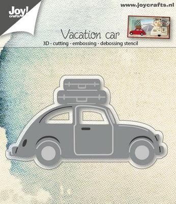 Joy! stencil 3D auto VW met koffers 6002/0677