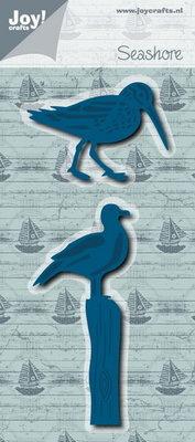 Joy! stencil strandloper & zeemeeuw 6002/0661