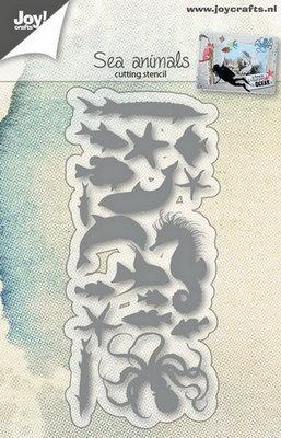 Joy! stencil onderwater dieren (18 st)  6002/0768