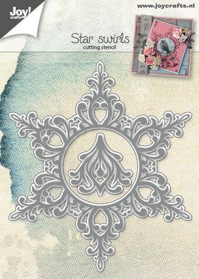 Joy! stencil ster swirls  6002/0788