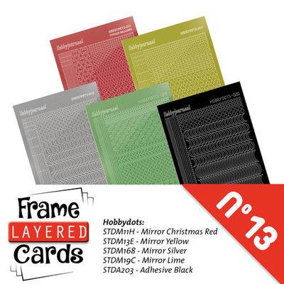 Hobbydots sticker - set 5 vellen voorA6 Layered frame cards 13