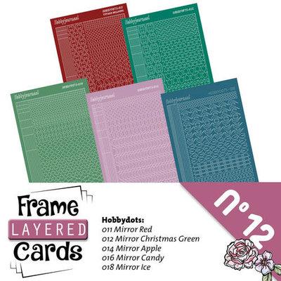 Hobbydots sticker - set 5 vellen voorA6 Layered frame cards 12