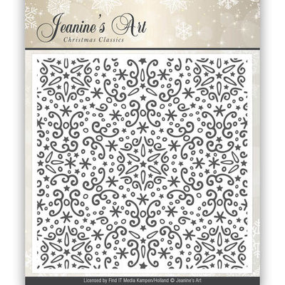 Embossing Folder - Jeaninnes Art - Christmas Classics  JAEMB10001
